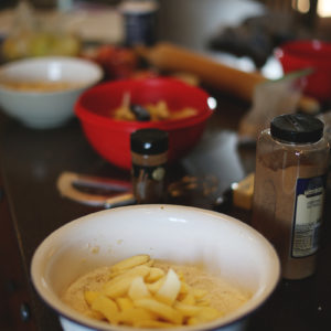 You're Not The Only One Who Leaves A Disaster In The Kitchen! Oh, And Here's A Picture Of The Apple/pear Mixture Just About Ready To Get Mixed Into All The Yummy Stuff.