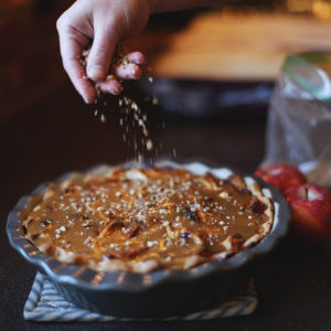 Sprinkle Crushed Pecans On Top As A Garnish After The Caramel Sauce.