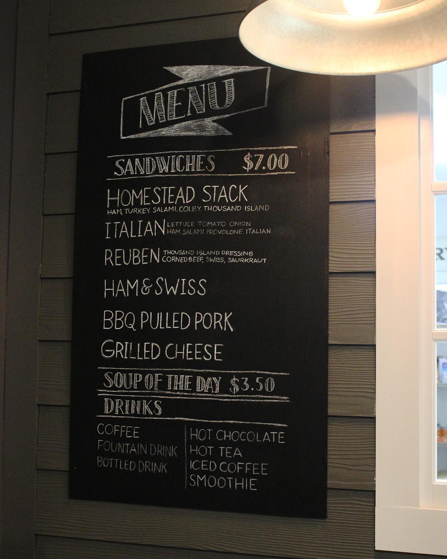 Our new menu