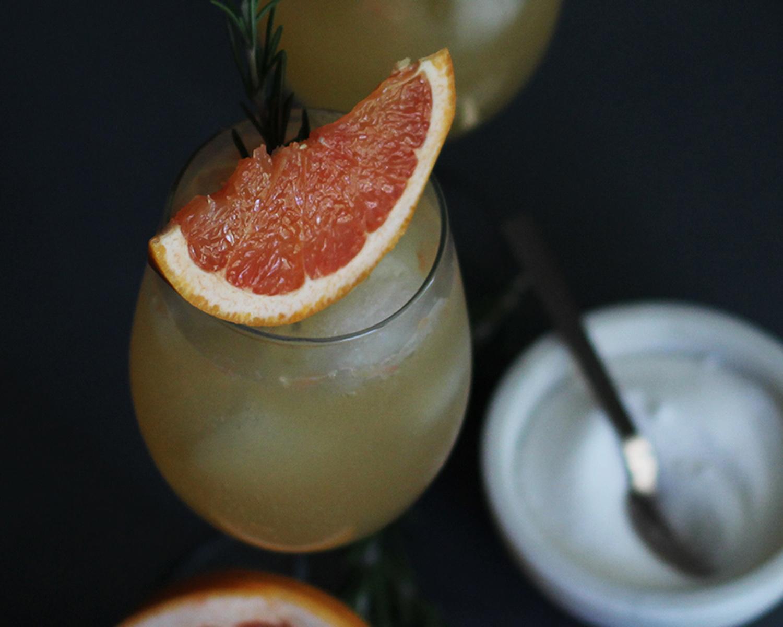 Rosemary Grapefruit Sodas