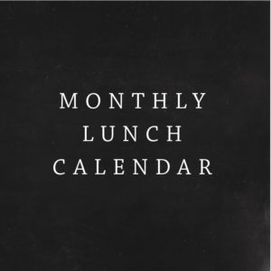 Monthly Lunch Calendar
